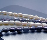 black and white pearl beads. poster