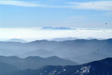 formes de montagnes dans les pyrénées