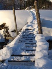 bridge of snow