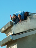roofer, cutting tile, poster