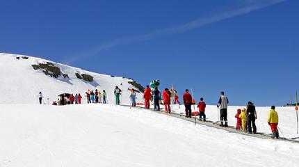 ski slopes of pradollano ski resort in spain
