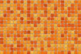 orange tiles - mosaic poster