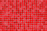 red tiles - mosaic poster