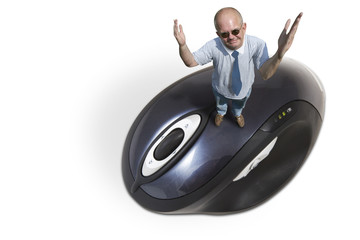 man on a mouse