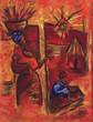 Leinwanddruck Bild afrique pastel