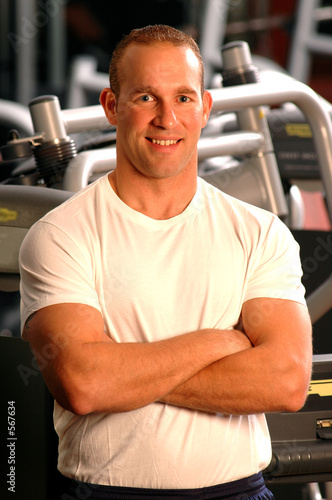 poster of fitness center man