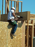carpenter worker, man construction, building work poster