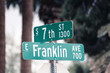 streetsign: 7th street & franklin avenue
