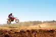 Leinwandbild Motiv motocross jump