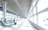 airport corridor poster