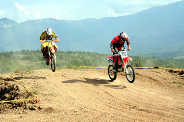 two motocrosses