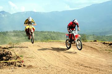 two motocrosses