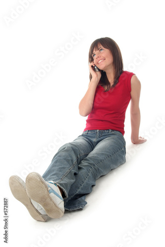 poster of girl using a mobile phone