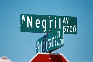 streetsign: negril avenue & port of dreams