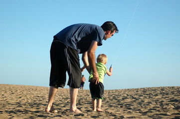 beach series: father and son