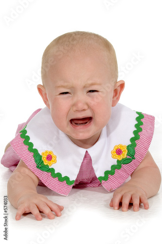 beautiful baby girl crying