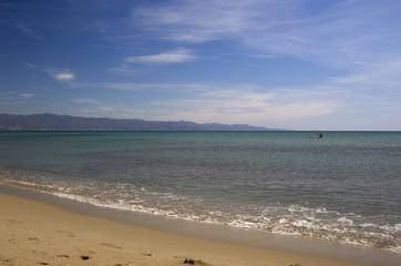 poetto beach, cagliari