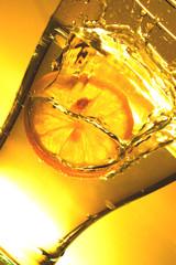 lemon in water - splash