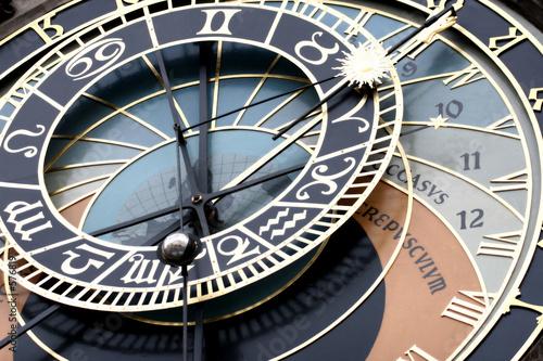 Aluminium Praag astronomical clock detail