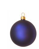 blue christmas bauble poster