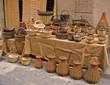 cestos y recipientes de mimbre antiguos