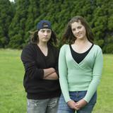twin teenage girls poster