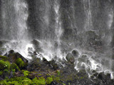 japanese waterfall poster