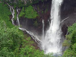 powerfull japanese waterfall
