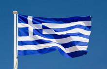 """Постер, картина, фотообои """"national flag of greece"""""""