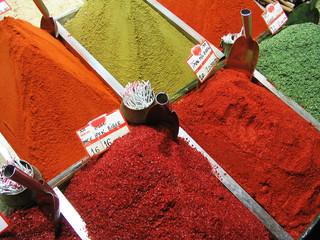 egyptian spice bazaar in istanbul, turkey