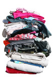 Fototapety big pile of laundry with path
