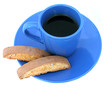 coffee & biscotti isolated