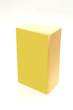 isolated yellow book with blank cover - add your text poster