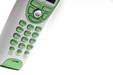 green and white telephone poster