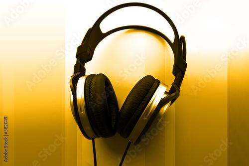 poster of dj headphones