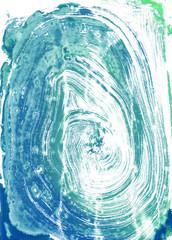watercolour monoprint