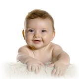 bébé couché sur le ventre - baby lying down poster