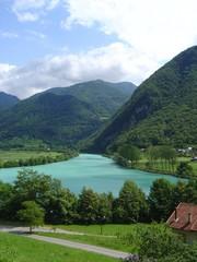rivière soca, slovénie
