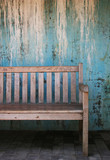 grunge bench poster