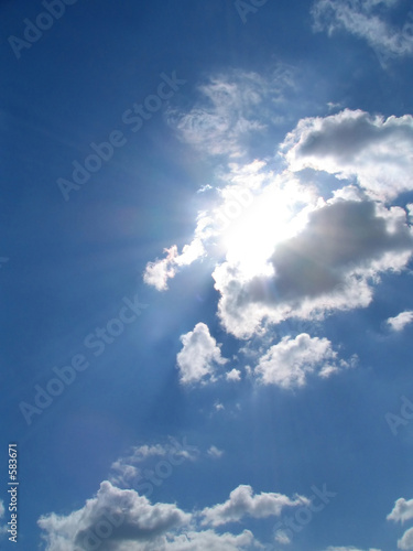 poster of sky-sun-clouds