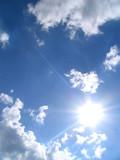 sky-sun-clouds poster