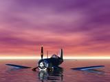 aircraft at sea poster