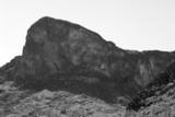 monochrome desert mountain poster