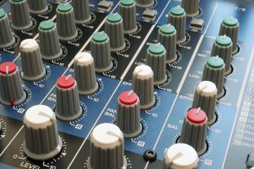 audio mixing desk