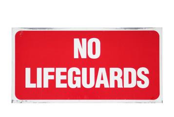 no lifeguards