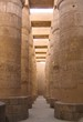 massive columns of karnak temple, luxor, egypt