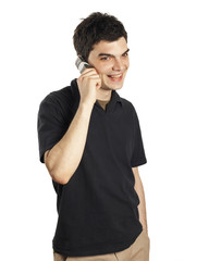young man mobile phone