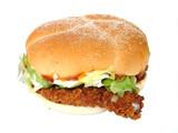 chicken burger poster