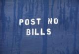 post no bills poster