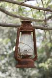 old rusty lantern poster